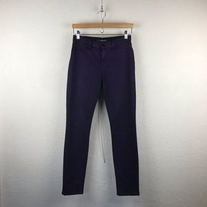 JBrand l Super Skinny Purple Neb High Rise Jeans